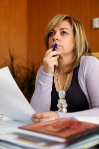 Elena Valenciano en su despacho.