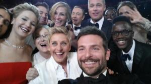 Selfie tomado durantes los Oscar de 2014.