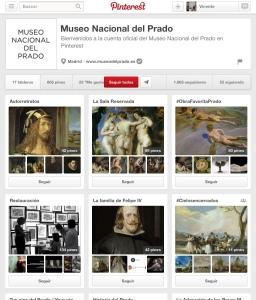Página oficial del Museo del Prado en Pinterest.